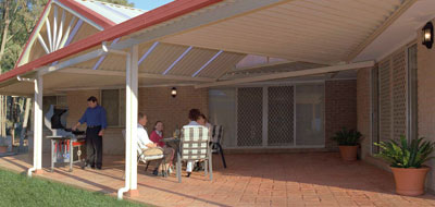 Shademaster Pitched by Eclipse Sun Control & Patios